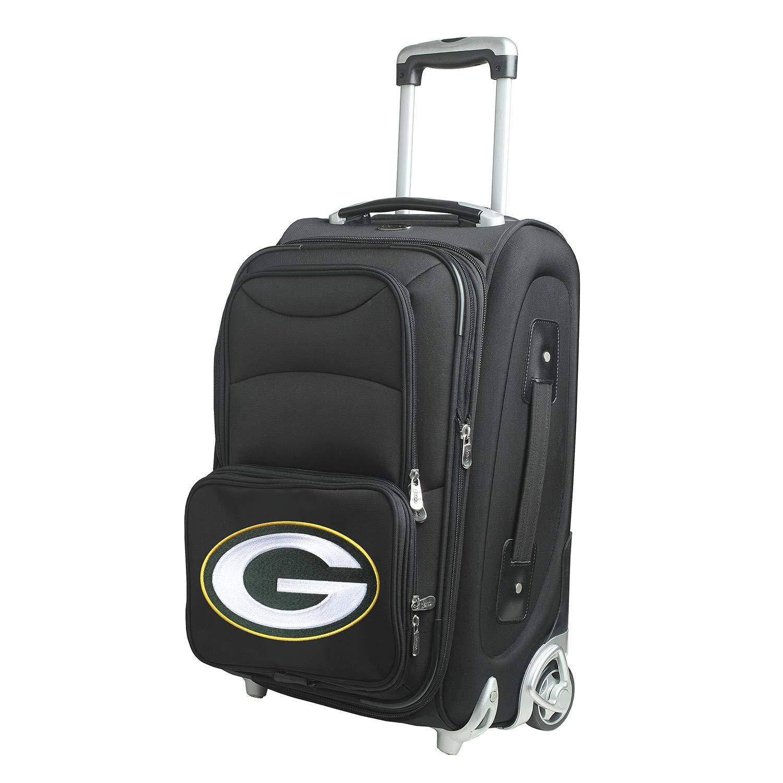 NFLグリーンベイパッカーズインラインスケートホイール機内持ち込み荷物、21-inch、ブラック B00NV4IKR2