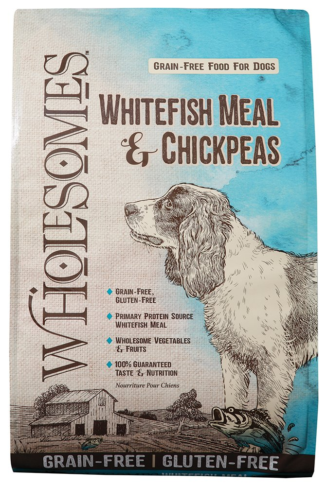 Wholesomes Whitefish Meal Chickpeas Grain-Free Dry Dog Food, 35 lb.
