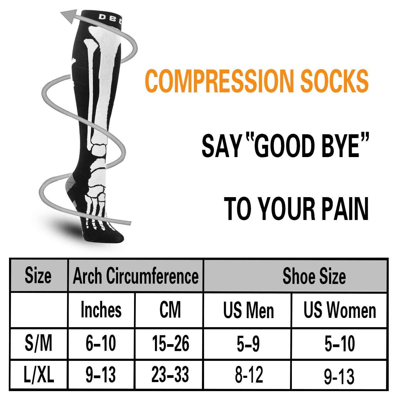 c6378bc91e Amazon.com: Compression Socks for Men & Women 20-30 mmHg Medical Graduated Compression  Stockings for Running Nurses Shin Splints Diabetic Flight Travel ...