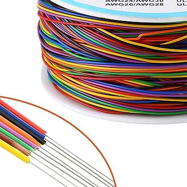 P//N B-30-1000 blanc pour r/éparations sur circuits imprim/és 200/m Fil de wrapping ou c/âblage en /étain plaqu/é cuivre A00047 Saim AWG 30
