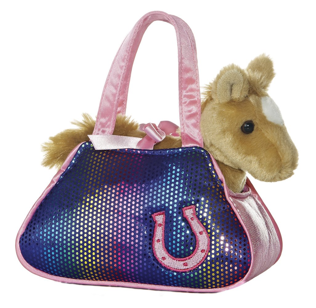"Betsey Bling Fancy Pals Purse with 8"" Pony Aurora 32601"