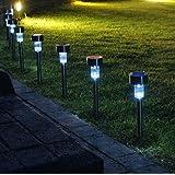 Preyank Solar 10 X Solar Led Light For Path Garden Outdoor Landscape Yard Cool White Lamp