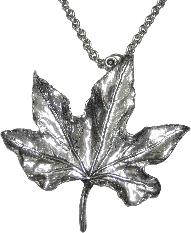 Kiola Designs Large Maple Leaf Pendant Necklace