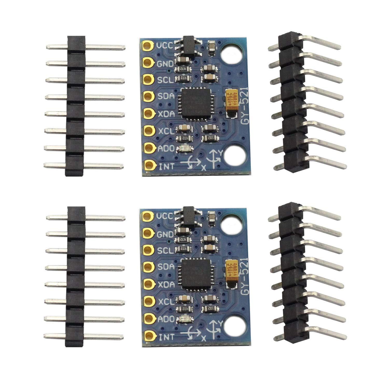 5Pcs GY-521 MPU-6050 6DOF Accelerometer Sensor Gyroscope Module for Arduino