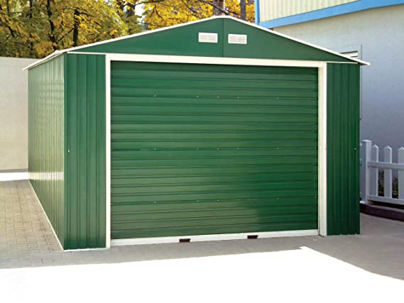 Amazon.com : Duramax 55161 Metal Garage Shed with Side Door, 12 by 26-Inch : Storage Sheds : Garden & Outdoor
