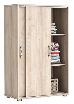 Wäscheschrank Selina Akazie 2 Türen B 68 cm H 106 cm Jugendzimmer Schlafzimmer Kinderzimmer Schrank Schiebetürenschrank Holzs