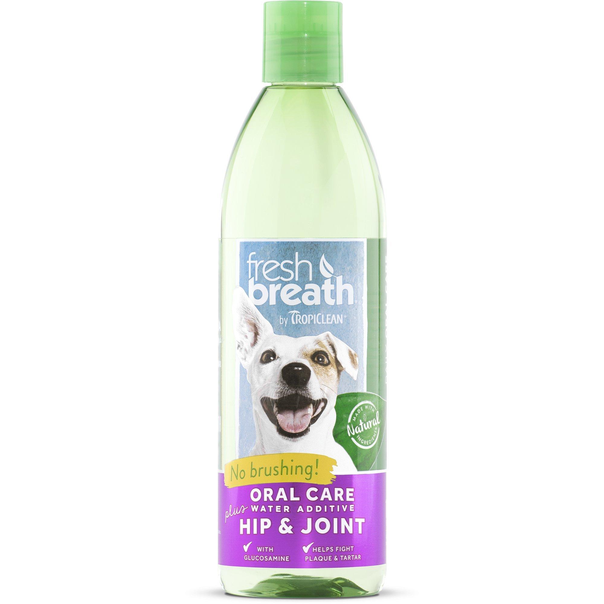 Tropiclean Fresh Breath Water Additive Plus Hip & Joint, 16 oz