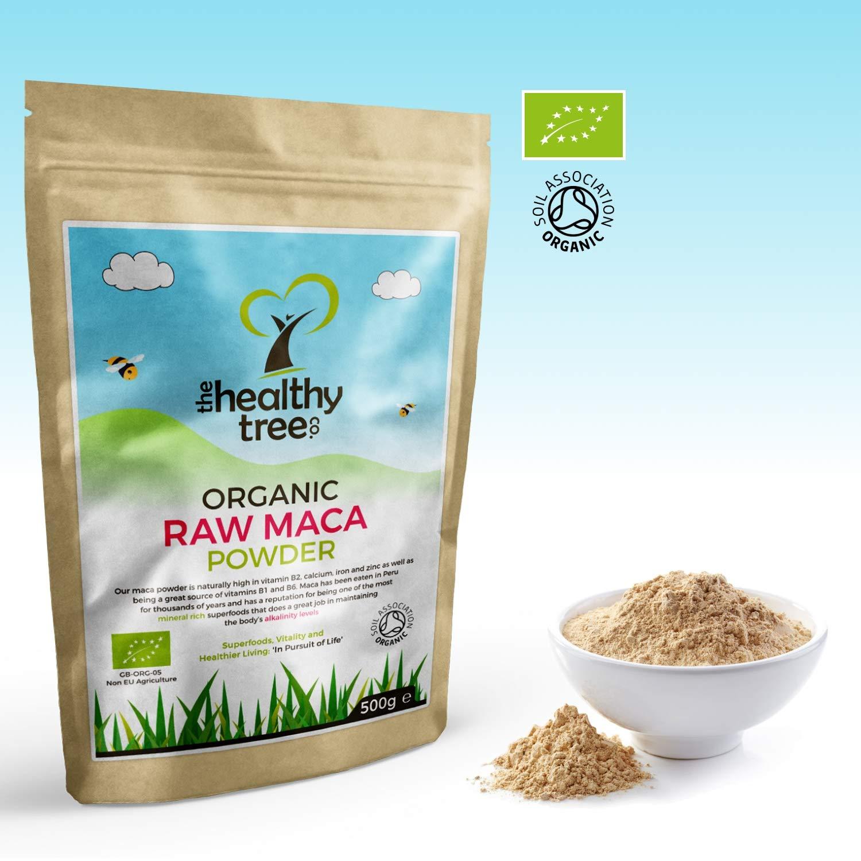 TheHealthyTree Company Maca Orgánica en Polvo - 500g: Amazon.es: Salud y cuidado personal
