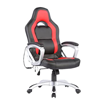 Murtisol Ergonomic Massage Gaming Chair, Leather Executive Heated Office Chair, adjustable high...