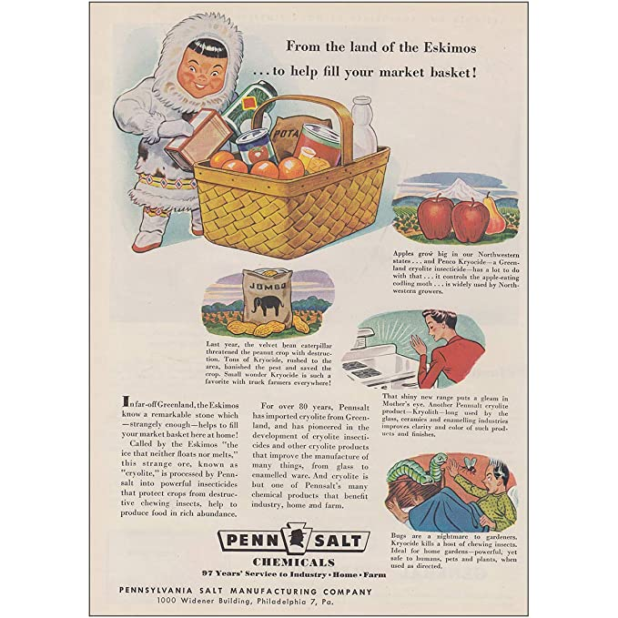 Amazon com: RelicPaper 1947 Penn Salt Chemicals: from The