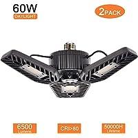 2-Pack Mopha 60W Triple Glow LED Garage Light
