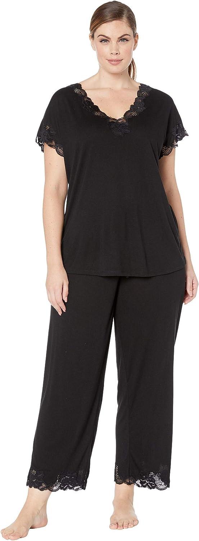 Natori Women's Plus Size Zen Floral Short Sleeve Pajama Set