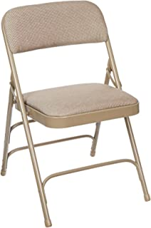 national public seating series steel frame upholstered premium fabric seat and back folding chair with