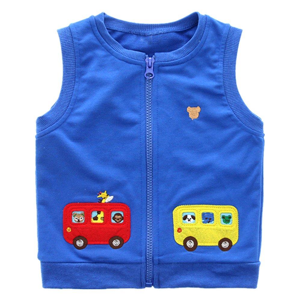 LittleSpring Little Boys Vest Jackets Cute School Bus SLSS0231