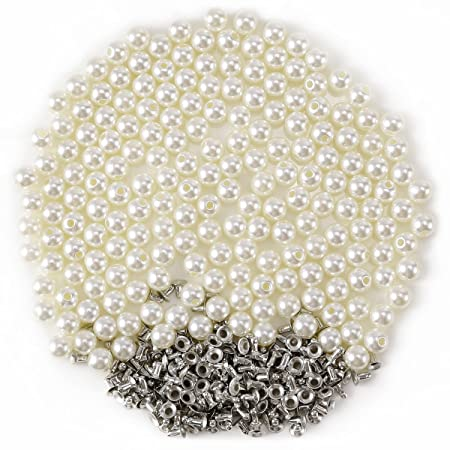 Pearl Rivets Button for Cloth Pant Hat Bag Crafts Decor Garment Scrap  booking