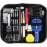 147PC Profesional Kit de herramientas de reparación de reloj, reloj de nuevo titular de la caja del abrelatas Pin Link Removedor Spring Bar Reparación Kit de herramientas con el caso de transporte