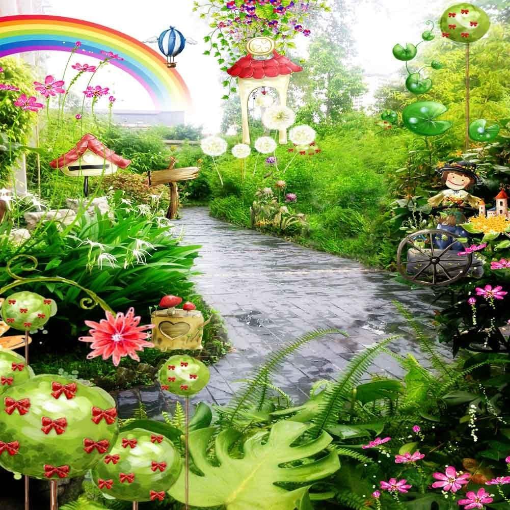 GladsBuy Miracle Wonderland 10 x 10 Computer Printed Photography Backdrop Nature Theme Background LMG-009