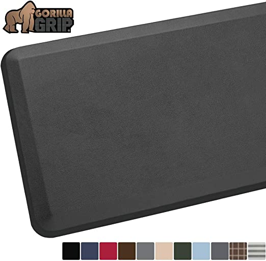 Ships Flat Phthalate Free Extra Support and Thick Ergonomically Engineered Kitchen and Office Standing Desk 24x17: Charcoal GORILLA GRIP Original 3//4 Premium Anti-Fatigue Comfort Mat