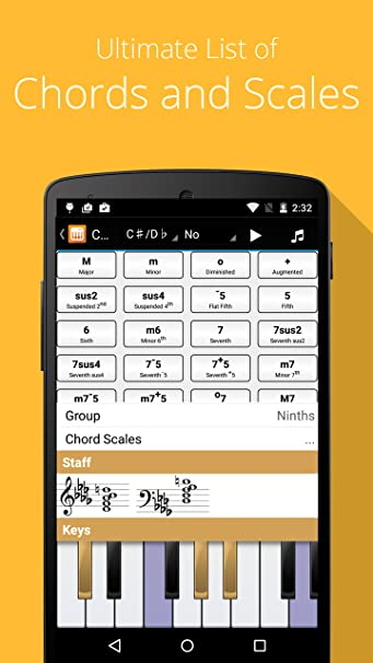 Amazon Piano Companion Pro Chords Scales Progression Builder