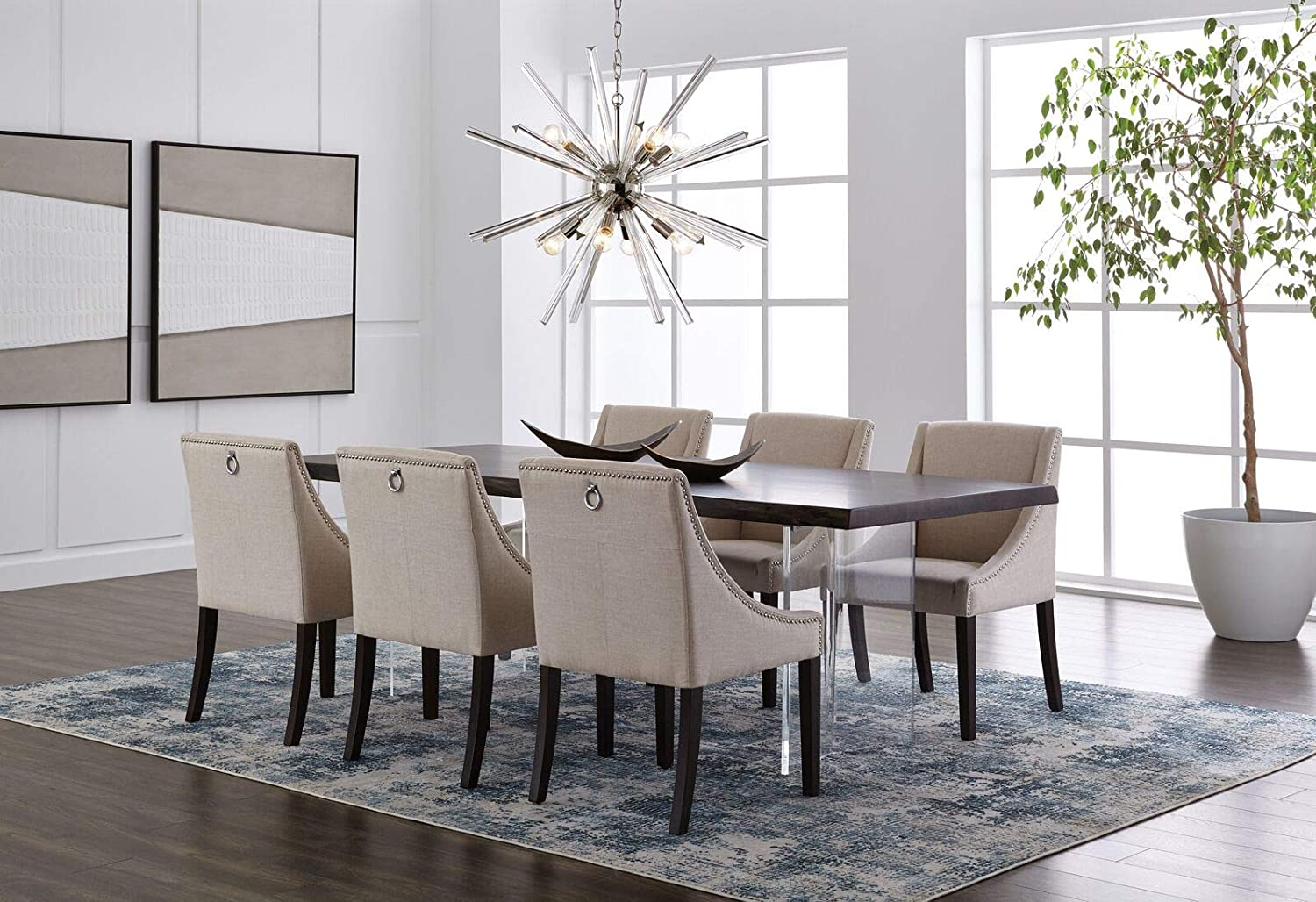 Sunpan 62283 5West Dining Chairs Ivory
