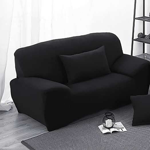 INMOZATA 2 Seater Sofa Slipcover Stretch Elastic Fabric Protector