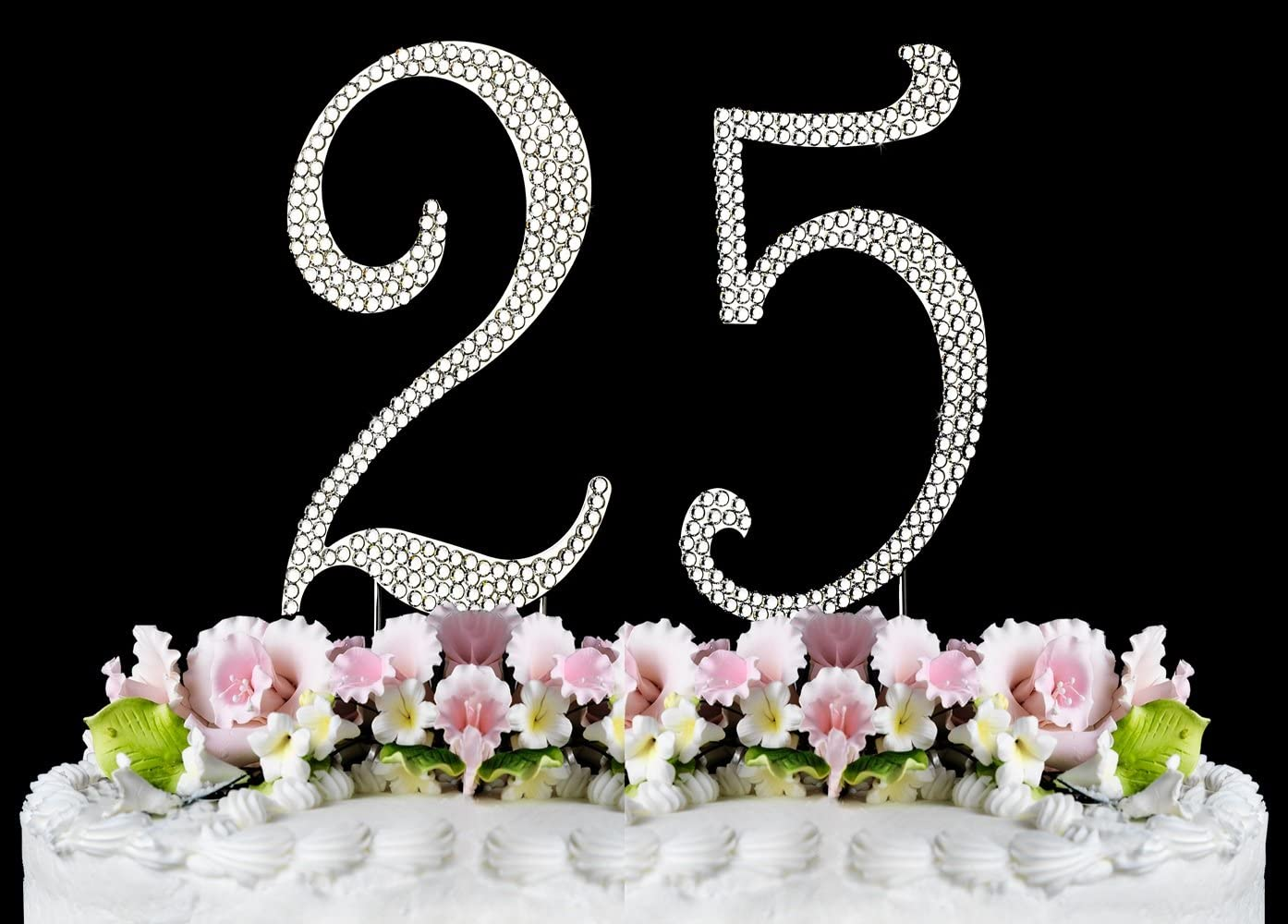 Rhinestone Cake Topper Number 25 by other