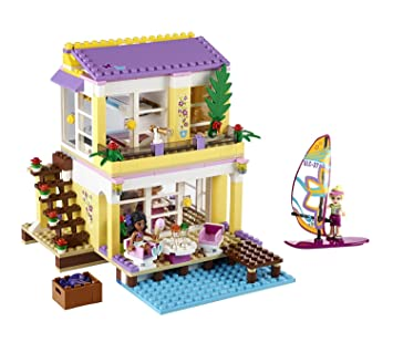Friends La De Construction Sur Lego Jeu Villa 41037 Plage TF1JKcl