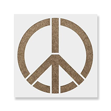 Símbolo de la Paz plantilla para paredes y manualidades - Plantillas ...