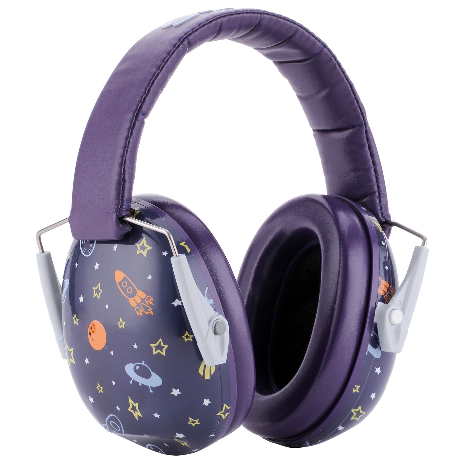 Snug Kids Earmuffs/Hearing Protectors – Adjustable Headband Ear Defenders for Children and Adults (Space) by Snug (Image #4)