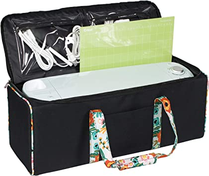 Cutting Machine Storage for Vinyl Craft Bag Compatible with Cricut Air//Maker /& Brother ScanNCut DX Everything Mary Black /& White Stripes Collapsible Die-Cutting Machine Carrying Case