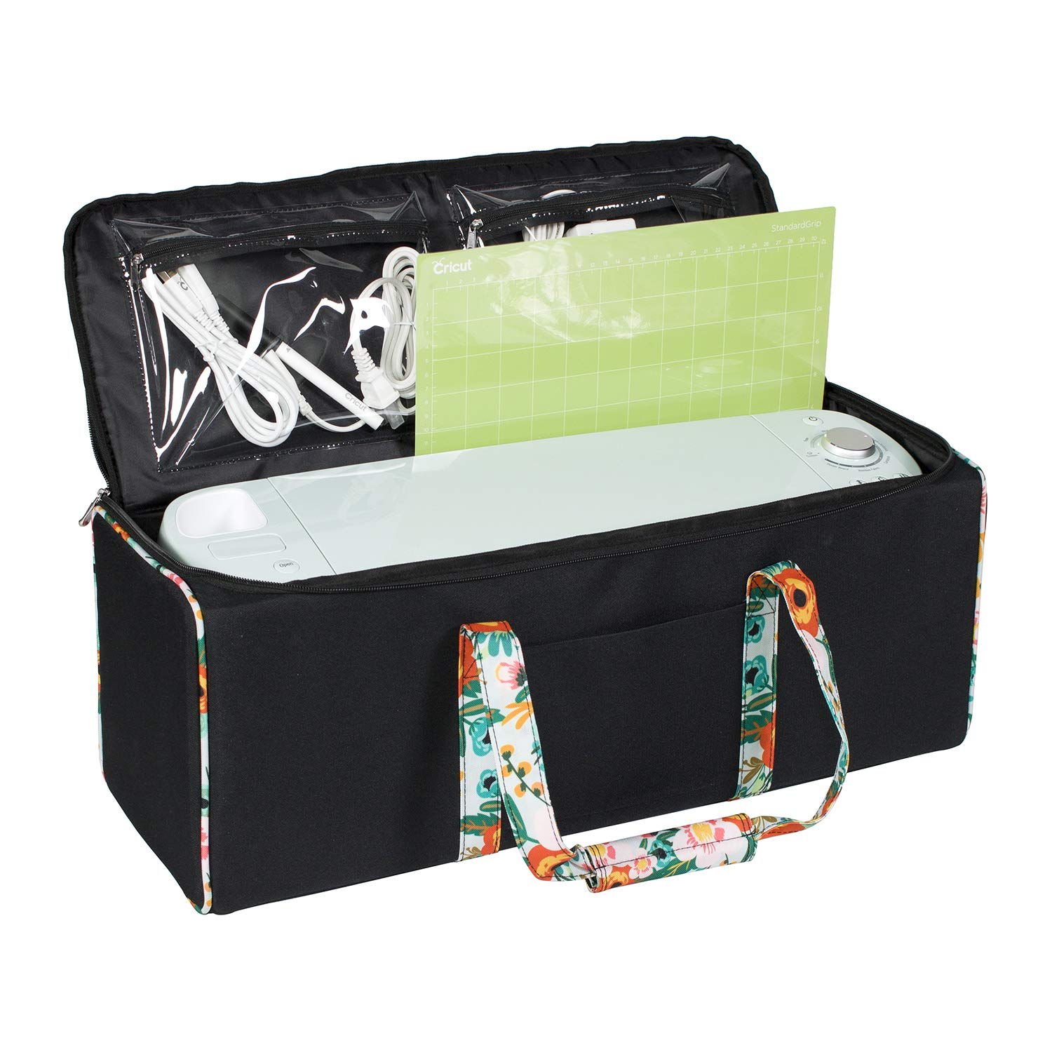 Everything Mary Collapsible Die-Cutting Machine Carrying Case - Craft E-Tote Bag Compatible with Cricut Explore Air & Cricut Maker – Cutting Machine Storage Bag for Vinyl, Tools, Pens, Accessories