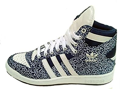 cheap for discount 1e06c 851b0 adidas Decade OG EF Hi Top Leather Mid Boot Q20677 Navy BlueRun White  Jeremy