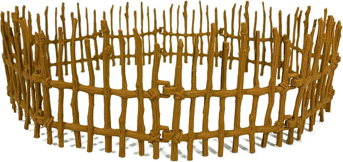 YUCAN 20PCS Toys Fence Horse Corral Fencing Accessories Playset, Plastic Garden Fence Toys Farm Animals Horses Figurines, Fence Panels, Paddock Toys, Cake Toppers for Kids
