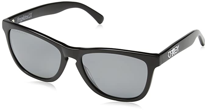 d43cd176c32 Oakley Frogskins LX Adult Polarized Lifestyle Authentic Sunglasses -  Polished Black Black Iridium One