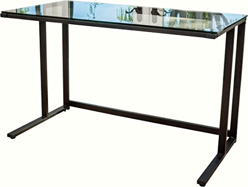 Christopher Knight Home Eghan Tempered Glass Computer Desk