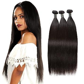 SingleBestHair Brazilian Hair Straight Bundles Unprocessed Virgin Human  Hair Extensions 7A Remy Hair Weave for Women 76fb8cd331