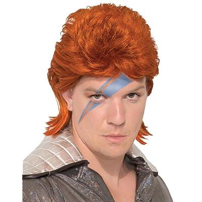 Forum Novelties 80S Orange Bowie Rock Star Wig: Toys & Games