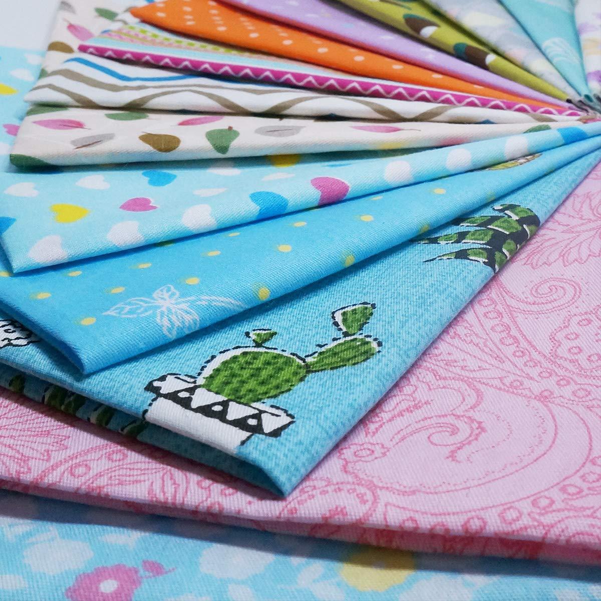 30cm x 30cm Cotton Craft Fabric Bundle Squares Patchwork Pre-Cut Quilt Squares for DIY Sewing Scrapbooking Quilting Dot Pattern Quilting Fabric Misscrafts 25pcs 12 x 12