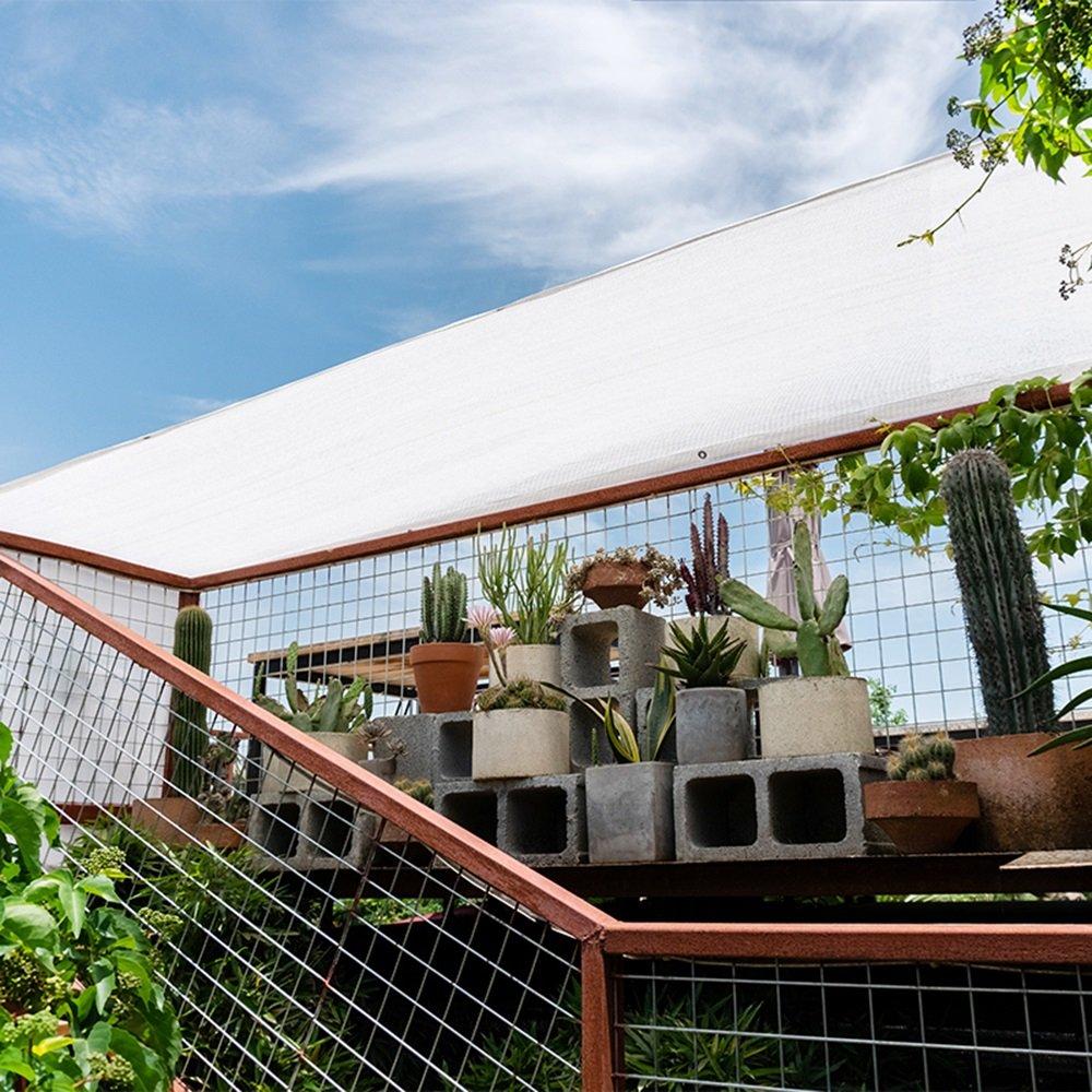 Wei/ße 6-Pin Schatten net//Sonnenschutz//Verschl/üsselung verdickte Balkon Pflanze Blume Schattierung Netz//Rand wei/ß Garten Isolierung Netzwerk Farbe : Wei/ß, gr/ö/ße : 1 * 1m 15 Arten von Gr/ö/ße