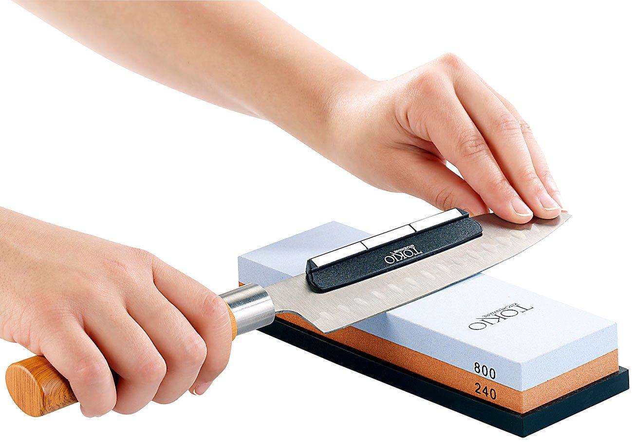 TokioKitchenWare Schleifhilfe: Winkelhalter für gleichmäßiges ...