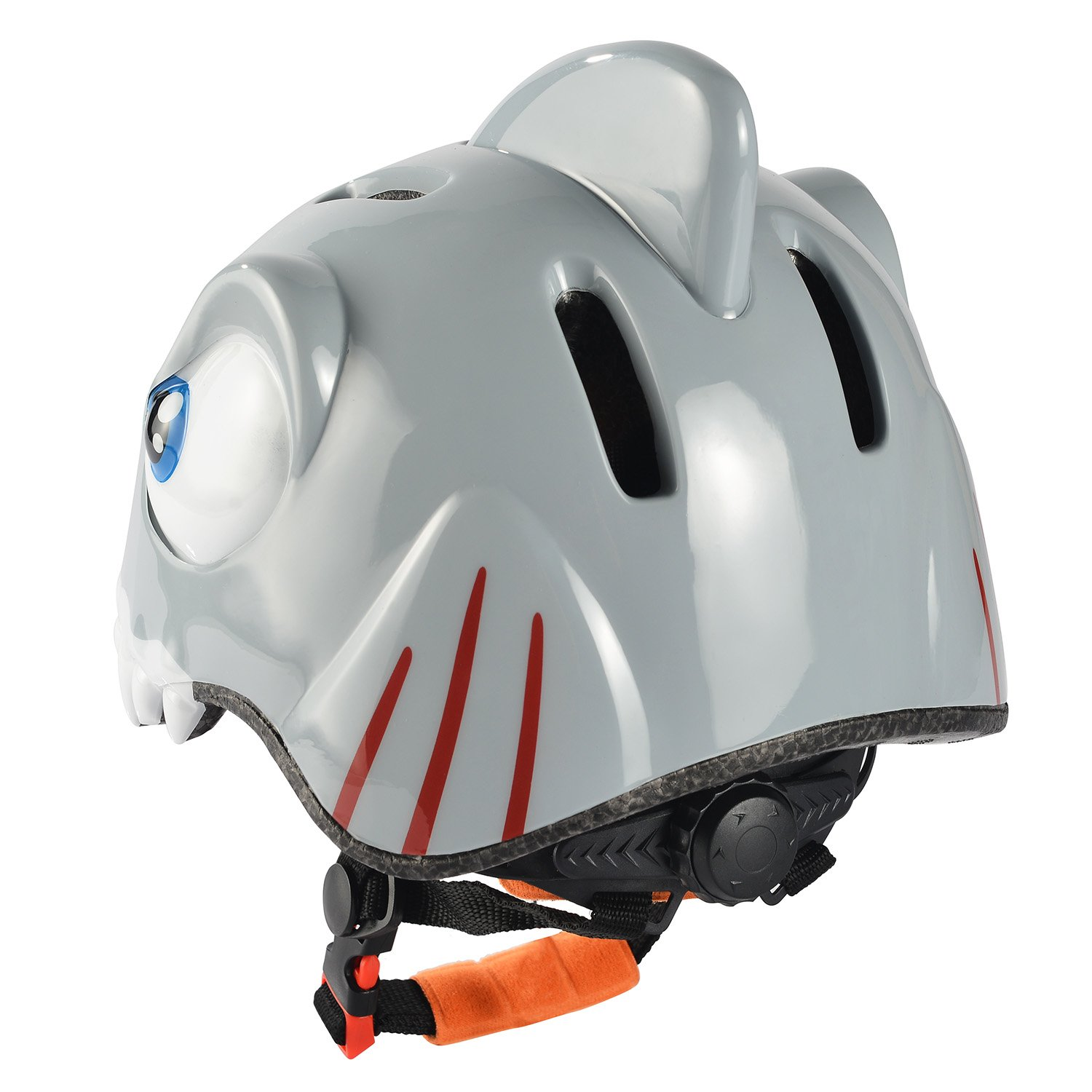 Amazon.com: Chaokele Kids Cute Shark Shape Design Safe Bike Helmet Grey&Red: Toys & Games