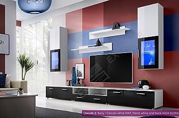 Wunderbar Wohnzimmer Hochglanz Möbel Schrank Set Display Wohnwand MODERN TV Unit  Lincoln