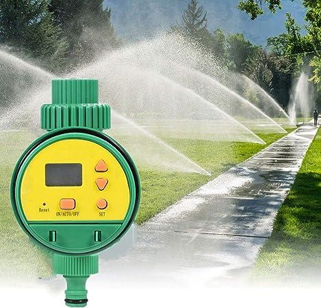 "Temporizador Riego Programador Riego Temporizador de Agua con Pantalla LCD 3/4"" Temporizador de Riego Automáticamente Regar para jardín, césped, Patio: Amazon.es: Hogar"