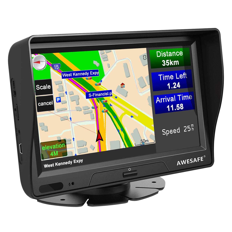 GPS Voiture Europe 7 Pouces Syst/ème de NavigationAutomatique /à Ecran Tactile Europe 48 Carte Utilisation dans Voiture et Camion Mises /à Jour gratuites de la Carte