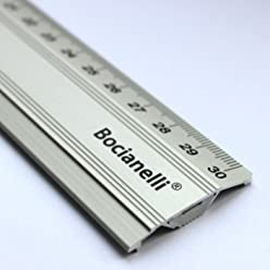 30cm 300mm Professional Metal Aluminium Ruler Rule Anti-Slip Non-slip - Technical Drawing Drafting School Office