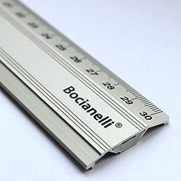 30cm 300mm Professional Metal Aluminium Ruler Rule Anti-Slip Non-slip - Technical Drawing Drafting School Office