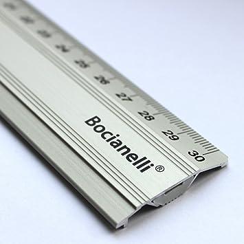 30cm Professional Rutschfest Aluminium Metall Lineal Fur Technisches