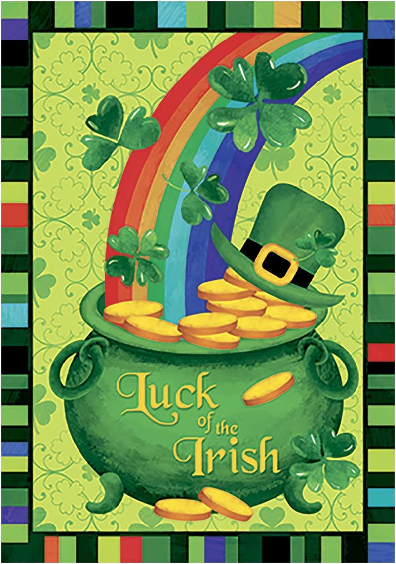 8x6.5ft Happy St.Patricks Day Bokeh Green Four Leaf Clover Shamrock Shining Green Hat of Gold Ireland Flag Rainbow Photography Backdrop Background Children Baby Adults Portraits