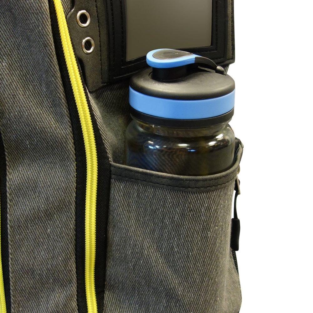 Cabin Max Manhattan 55x40x20 Hybrid Trolley Backpack Flight Approved hand luggage V2 Grey//Yellow
