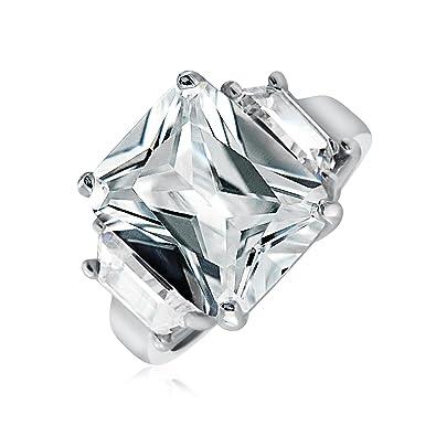 Bling Jewelry Sterling Silver Kim Kardashian Style Cz Engagement Ring